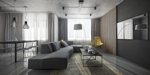 Дизайн интерьера серые тона