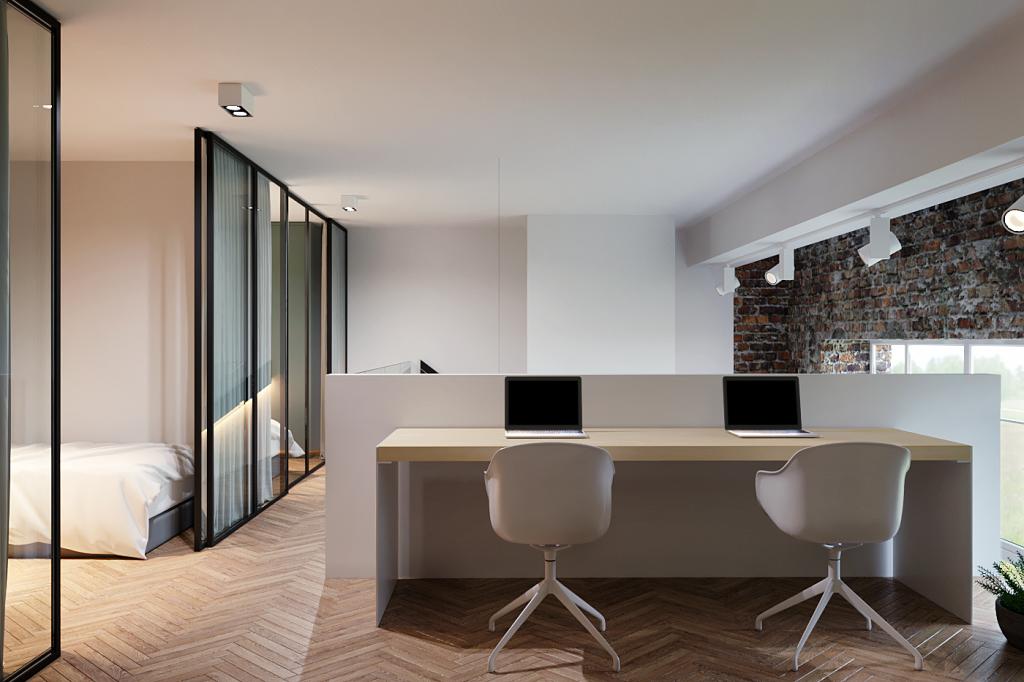 интерьер в стиле минимализм, современный интерьер, интерьер лофт, минималистичный интерьер, современный интерьер, зеленый цвет в интерьере