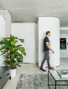 бетон в интерьере, современный интерьер, квартира в современном стиле, бетонные стены, бетонные стены в интерьере, современный интерьер
